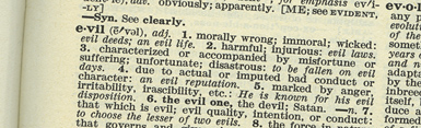 Dictionary-Evil