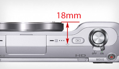 Sony 'E' Flangeback Distance